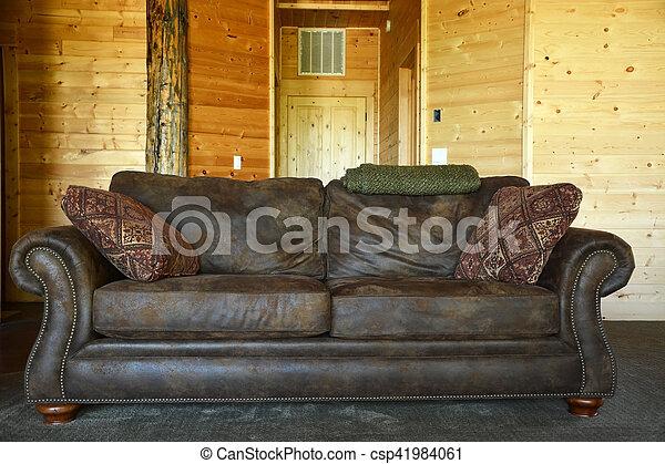 Interior, sofá clásico - csp41984061