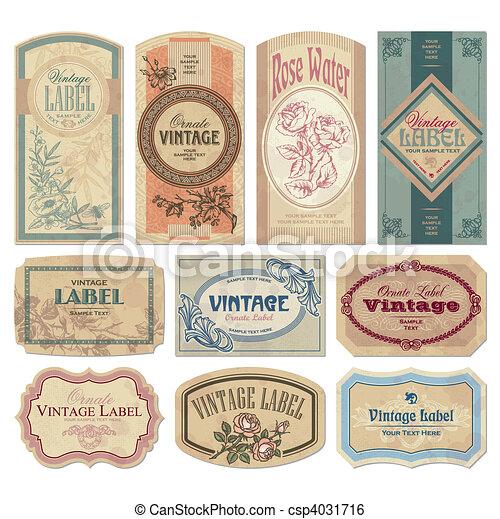 Etiquetas de vitrina establecidas (vector) - csp4031716