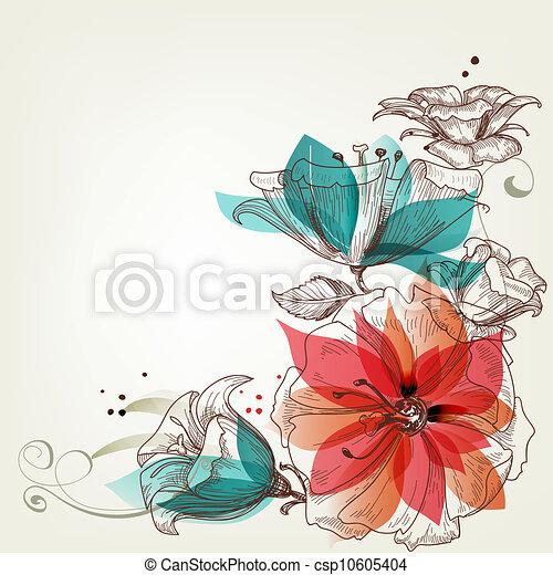 Flores de fondo - csp10605404