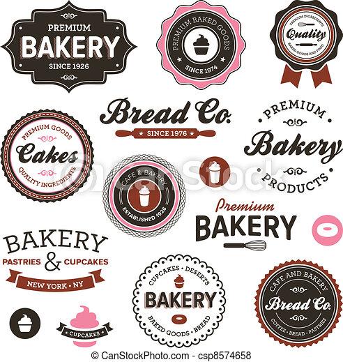 Etiquetas de panadería de vitage - csp8574658
