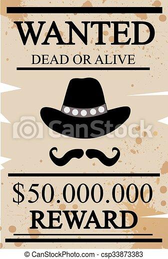 Antage Western quería un póster - csp33873383