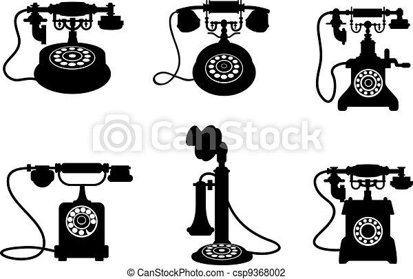 Retro y teléfonos antiguos - csp9368002