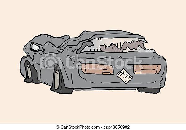 Un viejo coche roto - csp43650982