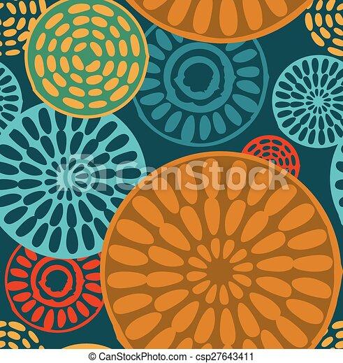 Patrones de cosecha tribales sin costuras geométricas - csp27643411