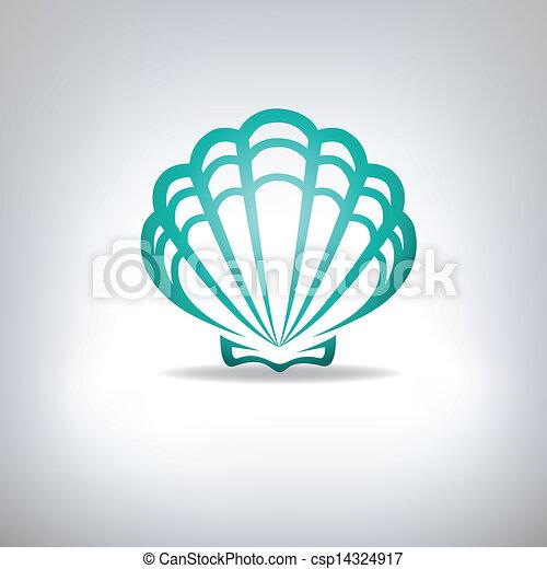 Scallop Seashell.  - csp14324917