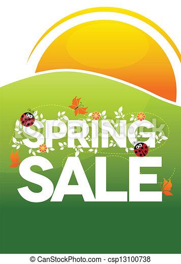 El póster de la venta de primavera - csp13100738