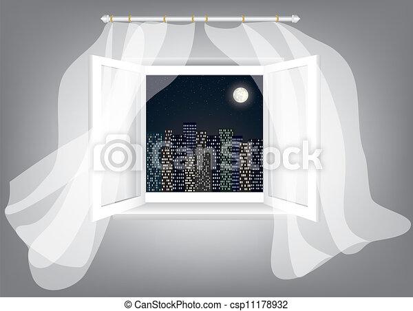 Una ventana abierta - csp11178932