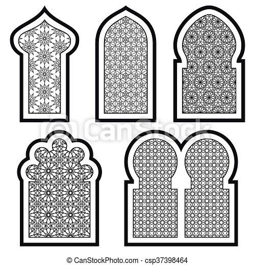 Ventanas árabes o islámicas - csp37398464