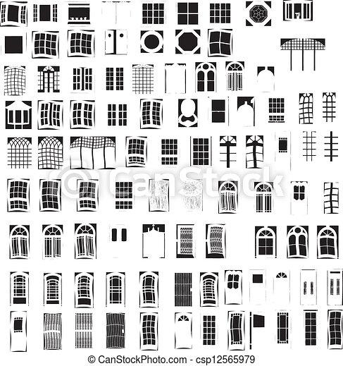 Ventanas y puertas - csp12565979