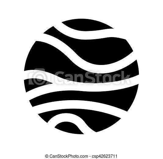 Venus planeta aislado icono - csp42623711