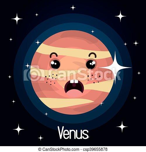 Venus planeta característico fondo espacial - csp39655878
