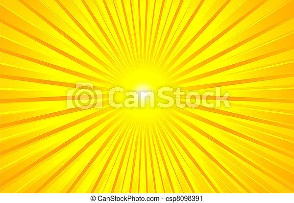 Caliente sol de verano - csp8098391
