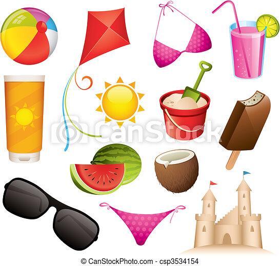 iconos de verano - csp3534154