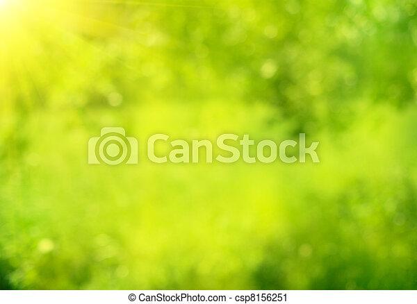 Naturaleza abstracta y verde fondo bokeh - csp8156251