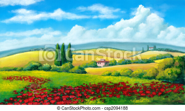 Un paisaje de verano - csp2094188