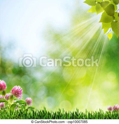 Mañana de verano. Abstrae el papel de pared natural - csp10007085
