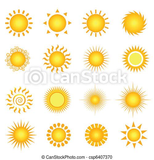 Sol de verano - csp6407370