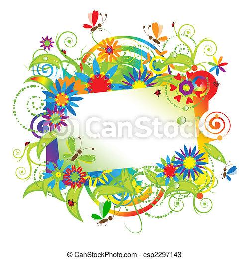 Sueños de verano, tarjeta de felicitación - csp2297143
