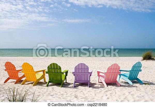 La playa de verano - csp2218480