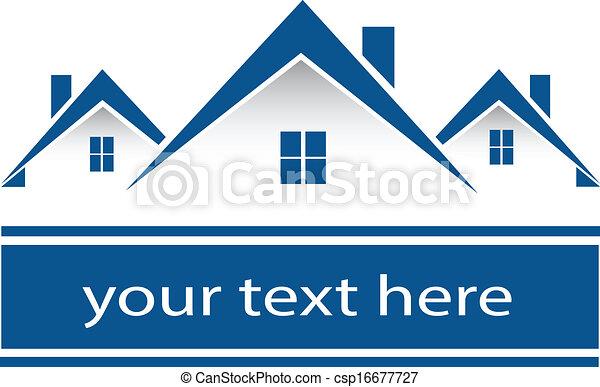 Logo de las casas de bienes raíces - csp16677727