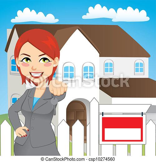 Mujer de bienes raíces - csp10274560