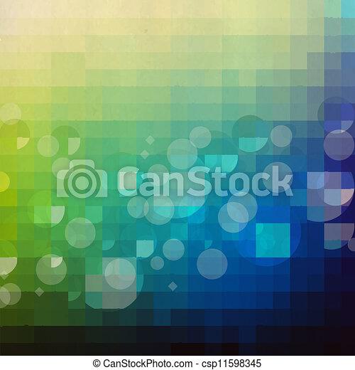 Verde y azul fondo retro - csp11598345