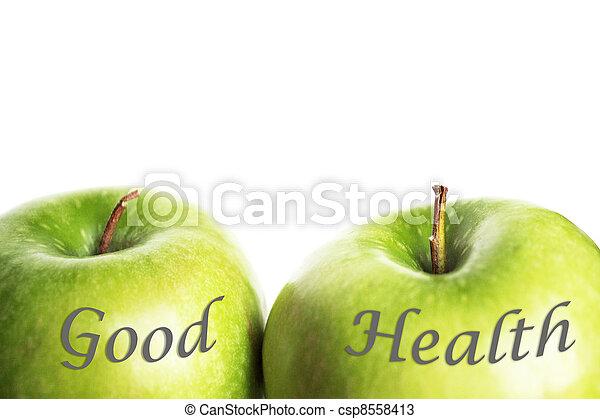 Manzanas verdes, buena salud - csp8558413