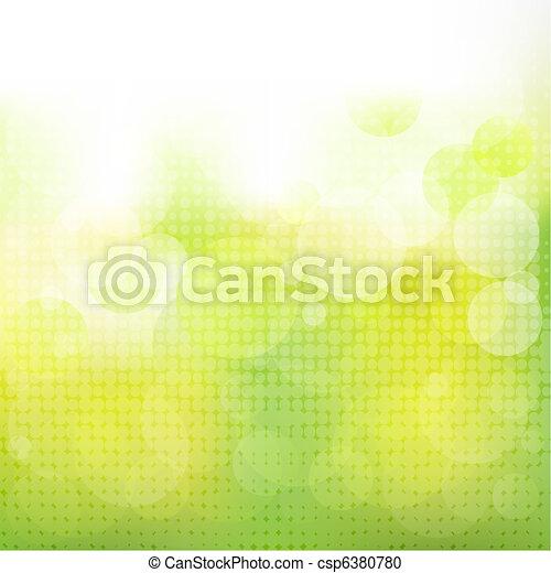 Un fondo natural verde con boke - csp6380780