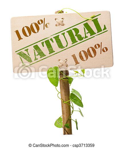 Verde natural y bio signo - csp3713359