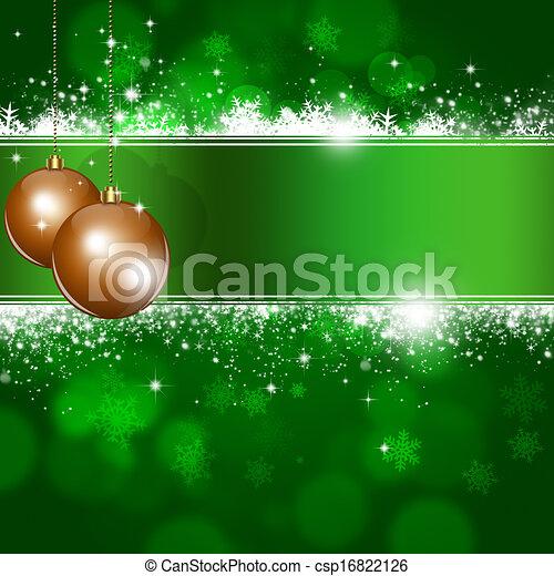 Antecedentes de Xmas verdes - csp16822126
