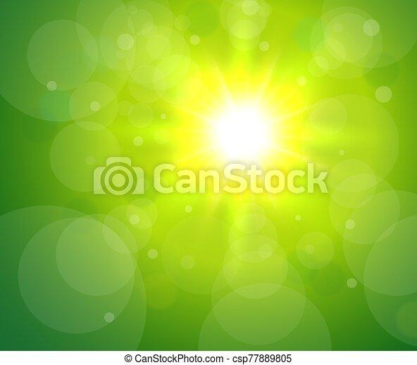 verde, sol, bacground - csp77889805
