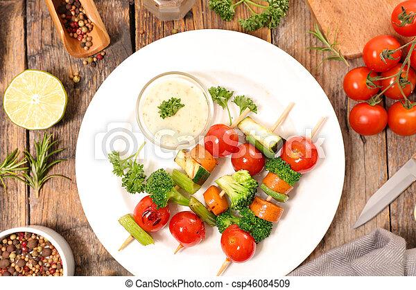 Verduras a la parrilla - csp46084509