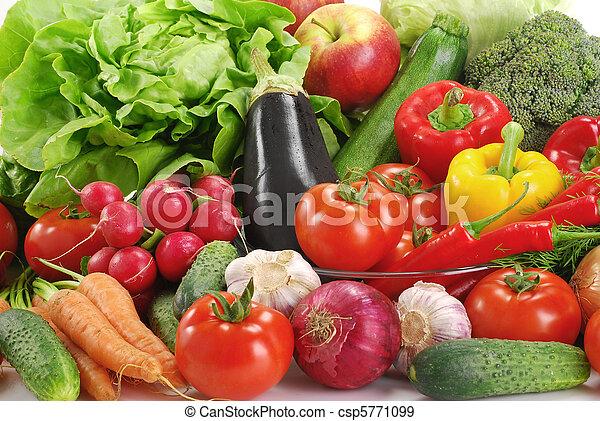 La variedad de las verduras crudas - csp5771099