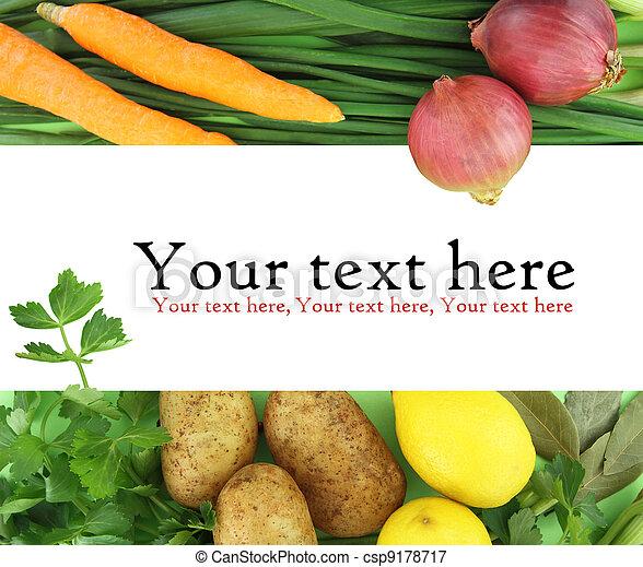 El fondo de las verduras frescas - csp9178717