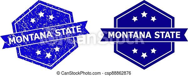 versión, estado de montana, watermark, hexagonal, textura, grunge, limpio - csp88862876