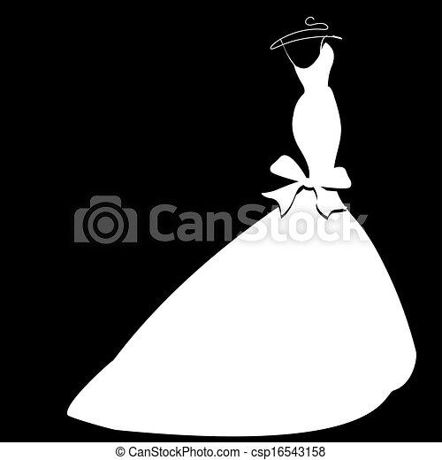 Vestido de boda - csp16543158