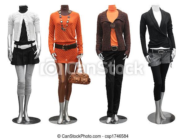 Vestido de moda en maniquí - csp1746584