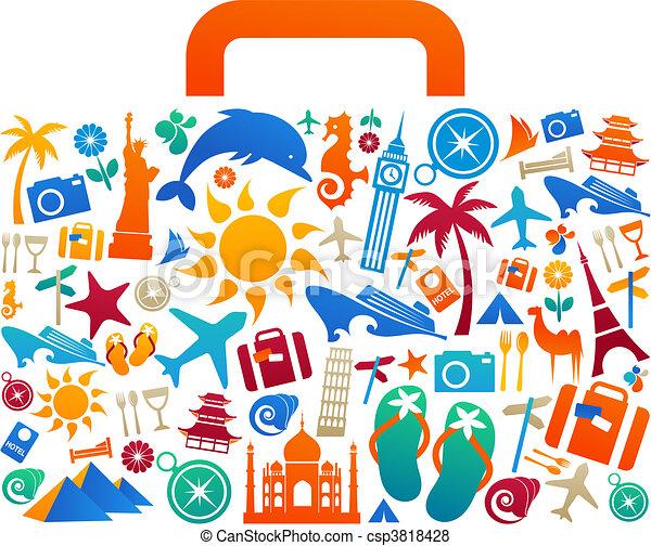 Una maleta de viaje - csp3818428