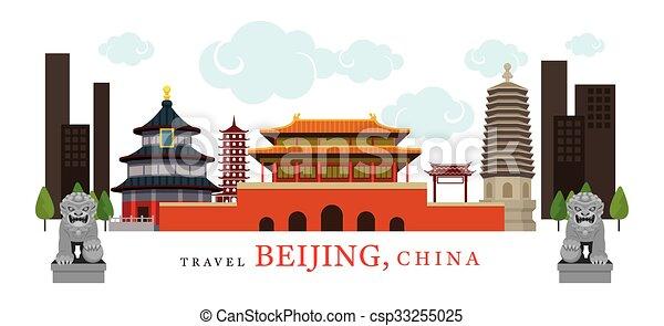 Viaje beijing, China - csp33255025