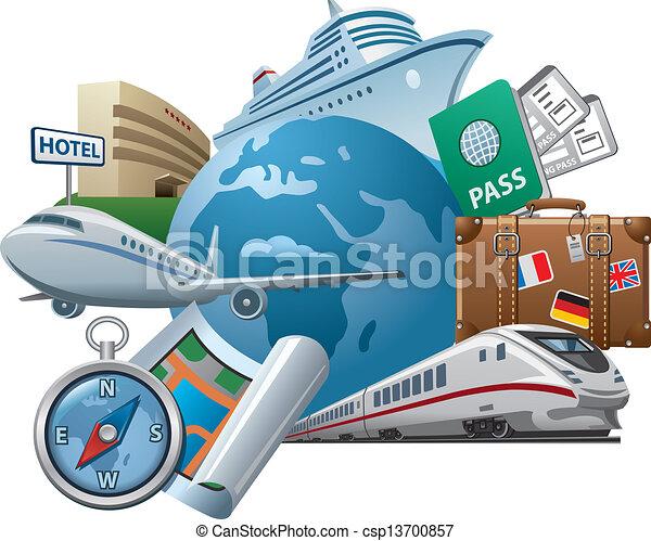 Un icono del concepto de viaje - csp13700857