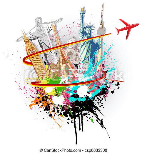 Viaje mundial - csp8833308