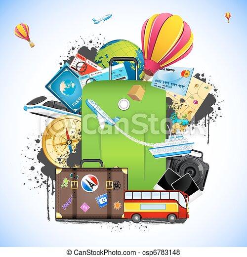 Un paquete de viajes - csp6783148