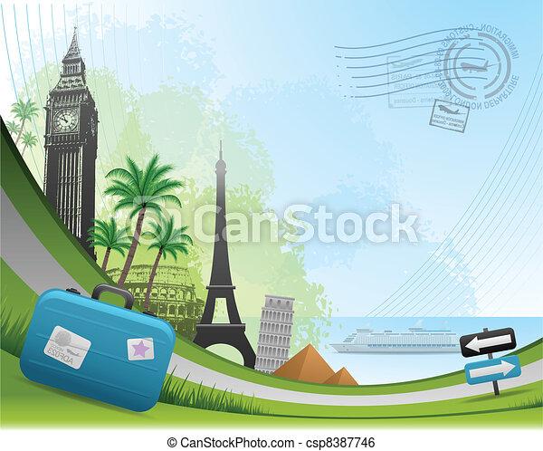 Tarjetas postales de viaje - csp8387746