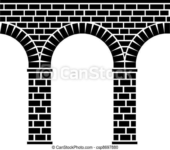 Victor antiguo puente de piedra sin costura - csp8697880