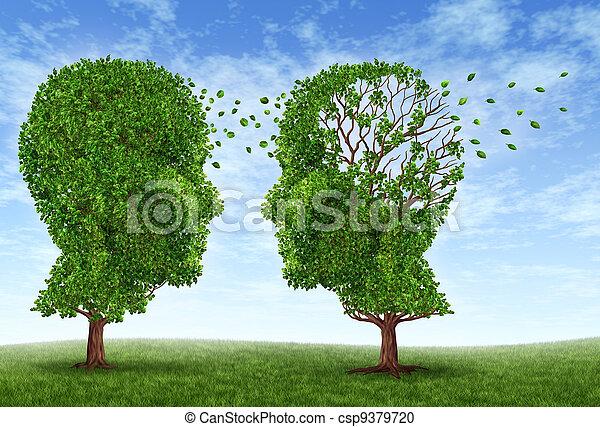 Viviendo con Alzheimer - csp9379720