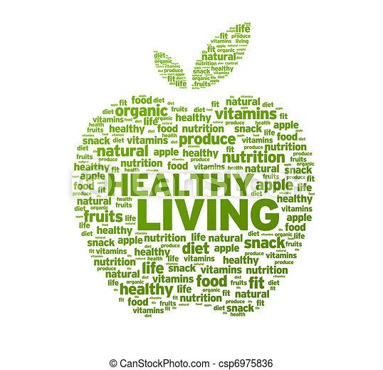 Una sana ilustración de manzana - csp6975836