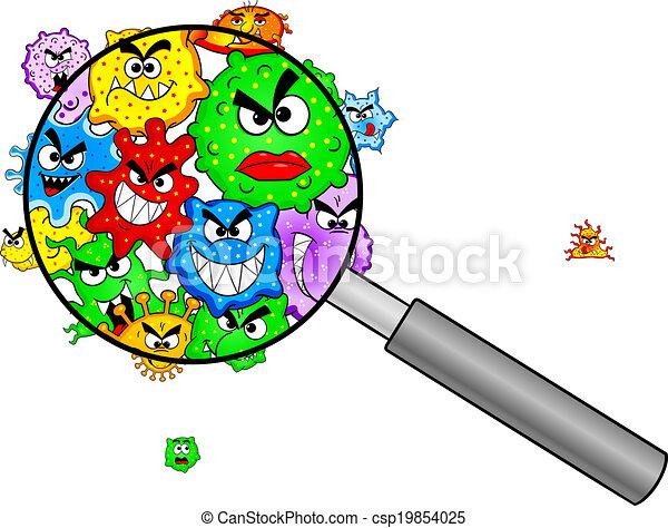 Bacteria bajo una lupa - csp19854025