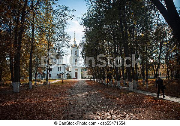 Vieja iglesia en Kremlin de Dmitrov - csp55471554