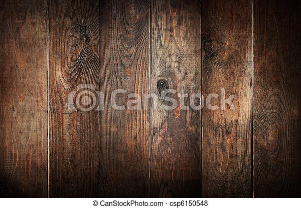Viejos tablones de madera. Extractos antecedentes. - csp6150548