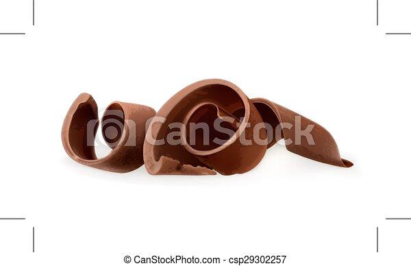 Afeitados de chocolate - csp29302257